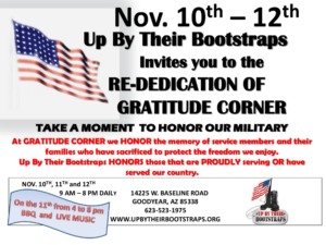 Re-dedication of Gratitude Corner